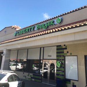 Liberty Burger Exterior signage