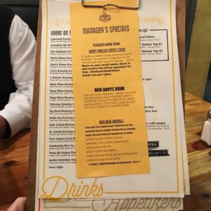 Well-Crafted Menu