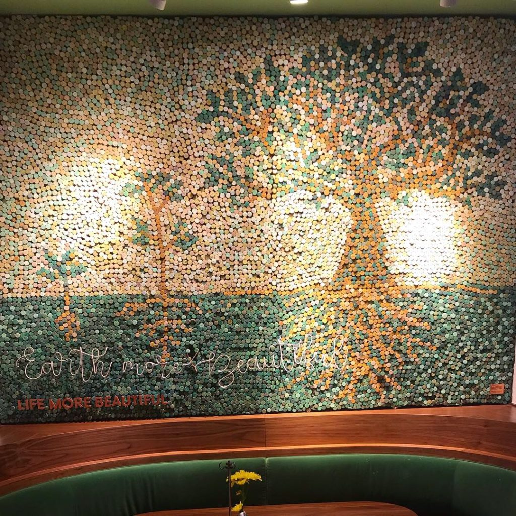 Repurposed Wine Cork Mural