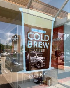Cold Brew Window Cling