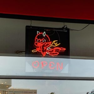 Torchy's Mascot Open Sign