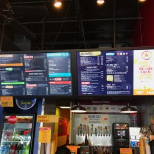 Huge Digital Menu Boards